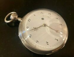 Verge Fusee Silver Quarter-repeater 57 Pocket Watch