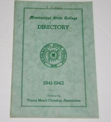 Rare 1942 Mississippi State College Student Directory With Map, Phone S, Ads