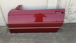 Cadillac Allante 93 Only Left Driver Side Door Shell Burgundy