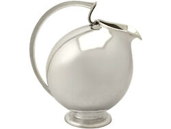 Vintage Continental Sterling Silver Water Jug - Design Style - Circa 1960
