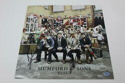 Mumford And Sons Full Band X4 Signed Autograph Record Flat- Babel Marcus Mumford