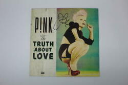 Pink Pnk Signed Autograph Album Vinyl Record - Sexy The Truth About Love