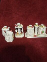 A Lot Of Knick Knacks Little Pottery Kitchen Containers. Vintage 3 High