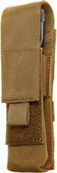 Elite Survival Systems Molle Flashlight Pouch Coyote Tan Me131-t