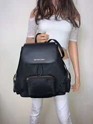 Michael Kors Abbey Large Cargo Nylon Backpack Black $109.95