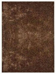 Hand Tufted Shag Polyester 10and039x13and039 Area Rug Solid Brown Bbh Homes Bbk00111