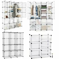6 12 20Cube Organizer Cube Clothes Storage Shelves Wire Bookcase Closet Cabinet