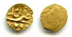 Very Rare Posthumous Gold 1/2 Fanam 1/4 Rupee In Gold With Alamgiri And A Cr