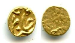 Unpublished Gold 1/2 Fanam 1/4 Rupee In Gold, Shah Alam Ii 1759-1806 As Sha