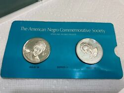 L. Hansberry And E. Lewis Black Americans Silver Commemorative Medals