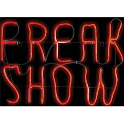 Freak Show Neon Light Led Sign Halloween Decoration Haunted House Prop Glow New