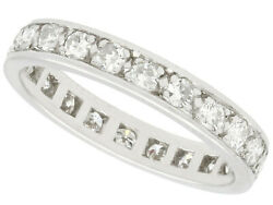 Vintage French 0.75 Ct Diamond And Platinum Full Eternity Ring