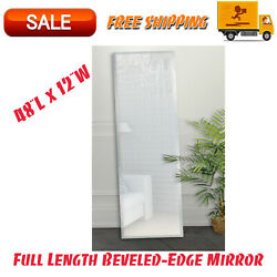 Full Length Beveled Edge Mirror 48quot;x 12quot; Dorm Room Essentials Rectangle Mirror