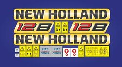 New Holland 12b Wheel Loader Decals / Adhesives / Stickers Complete Set / Kit