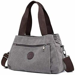 DOURR Hobo Handbags Canvas Crossbody Bag Women Multi Compartment Tote Purse $37.97