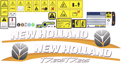 New Holland T7.205 Tractor Decals / Stickers Compatible Complete Set / Kit