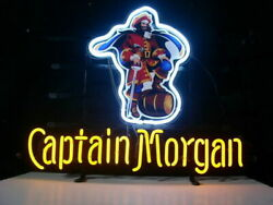 Captain Morgan Rum Neon Sign Lamp Light 17x14 Beer Bar With Dimmer