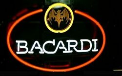 Bacardi Neon Sign Lamp Light 17x14 Beer Bar With Dimmer