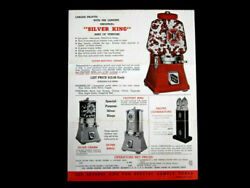 1930's Silver King King Of Vendors Full Color Bubble Gum Machines Dealer Poster