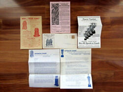 1930and039s Silver King King Of Vendors Bubble Gum Machines Illustrd. Letter/contents