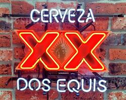 Cerveza Xx Dos Equis 20x16 Neon Sign Light Lamp Beer Bar With Dimmer