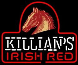 Killians Irish Red Horse 20x16 Neon Sign Light Lamp Beer Bar With Dimmer