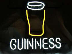 Guinness Cup 20x16 Neon Sign Light Lamp Beer Bar With Dimmer