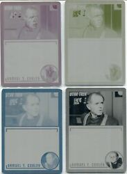 Star Trek Tos Archives And Inscriptions Set Of 4 Base Card Printing Plates 29