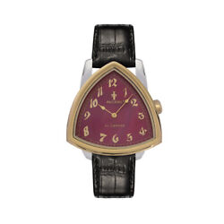 Paccioni Al Capone 44mm Two Tone Red Mother Of Pearl Black Leather Strap Watch