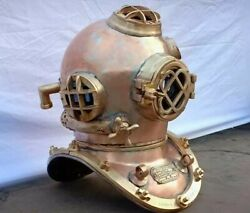 Antique Diving Helmet Replica Premium Well Made 18and039and039 Nautical Diving Helmet
