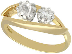 Antique And Contemporary 0.81 Ct Diamond And 18carat Yellow Gold Dress Ring