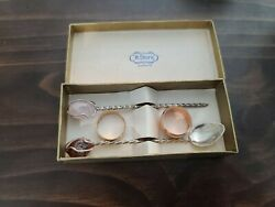 Vintage H.stern Joalheiros Silver Spoon And Pick Set With Gem Stones 4 Long