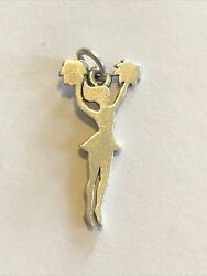 James Avery Cheerleader Charm Sterling Silver Pendant Necklace 18 Retired B45