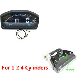 Motorcycle Led Lcd Av Screen Speedometer Odometer Tachometer For 1 2 4 Cylinder