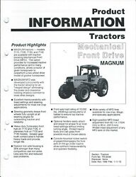 Farm Tractor Brochure - Case Ih - Mechanical Front Drive - Magnum - 1989 F7271