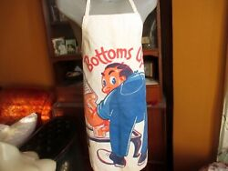 Vintage 1950and039s Bottoms Up Full Bar Apron Comic Mancave Mc Canvas Full Size