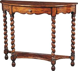 Scarborough House Console Table Demilune Hand Planed Distressed Country B