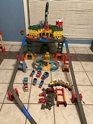 Thomas And Friends Super Station Train Set Fisher Price Big Lot W Extra Playset