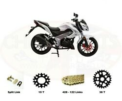 Kymco Ck1 125cc Heavy Duty Chain And Sprockets Set Gold And03914 - And03916 Models