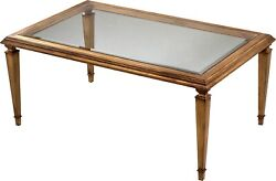 Scarborough House Cocktail Table Antique Gold Leaf Beveled Glass Top