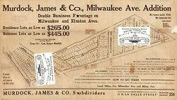 Chicago Antique 1917 Ad Map Of Parts Of Jefferson Park And Norwood Park Repro