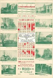 Chicago Antique 1910 Advertisement Map Of Maywood Il F.c. Wood's Addition Repro