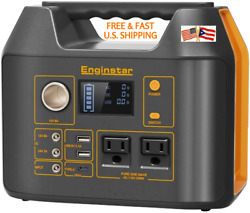 Portable Power Station Android Apple Solar Ac/dc Charge 300w Emergency Generator