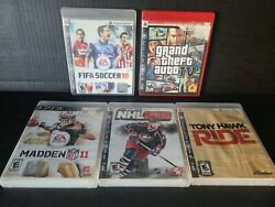 Lot Of 5 Sony Playstation 3 Ps3 Video Game Lot Bundle .