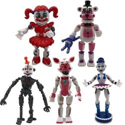 5PCS Five Nights at Freddy#x27;s Sister Location Action Figures Party Toy FNAF Xmas