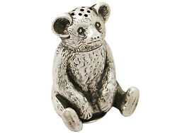 Sterling Silver And039bearand039 Pepperette - Antique Edwardian