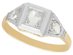 0.65ct Diamond And 18carat Yellow Gold Dress Ring - Antique - Size M1/2