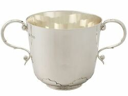Antique Sterling Silver Porringer By Daniel And John Wellby Victorian
