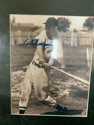 Signed Ted Williams 8x10 Action Photo Bandw Picture Boston Red Sox Coa