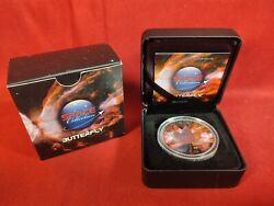 2016 1 Oz Canadian Butterfly Nebula Silver Maple Leaf Ruthenium And Rose Gold Gild